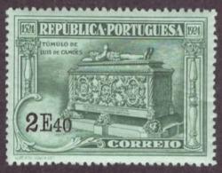 Portugal 1924 -  IV Centenário Do Nascimento De Luis De Camões 2$40 Nr. 324 Mundifil Côte € 10.50 Novo C/Goma - Oblitérés