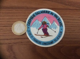 AUTOCOLLANT, Sticker * «CRÊPERIE SALADERIE Du VAL BLANC - ST-FRANÇOIS LONGCHAMP (73)» (ski) - Autocollants