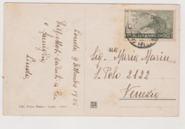 Londa (FI) Piazza Umberto I° , Buona Affrancatura  - F.p. -  Anni '1910 - Firenze (Florence)