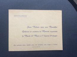 INVITATION JEAN NOHAIN  Animation Matinee  NOUVELLES GALERIES - Faire-part