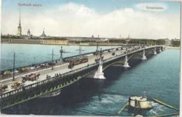 CPA Россия Russie - Санкт-Петербург Троицкий мост - Saint Pétersbourg Pont De Troitzsky - Russie