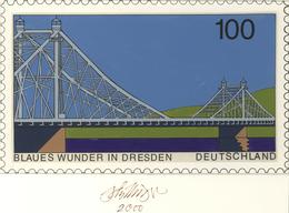 Thematik: Bauwerke-Brücken / Buildings-bridges: 2000, Bund, Nicht Angenommener Künstlerentwurf (26x1 - Brücken
