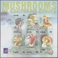 "Thematik: Pilze / Mushrooms: 2001, Lesotho. Imperforate Miniature Sheet Of 6 Fo R The Complete Set "" - Pilze"