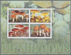 "Thematik: Pilze / Mushrooms: 2005, Dominica. Imperforate Miniature Sheet Of 4 For The Series ""Birds - Pilze"