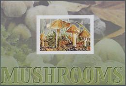 "Thematik: Pilze / Mushrooms: 2005, Dominica. Imperforate Souvenir Sheet (1 Value) Showing ""Split Fib - Pilze"