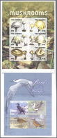 Thematik: Pilze / Mushrooms: 2009, GAMBIA And MICRONESIA: Vertical Pair Of Two Different IMPERFORATE - Pilze