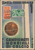 """Thematik: Sport-Fußball / Sport-soccer, Football: 1934, Italy. Colour Picture Postcard """"FIFA Campion - Non Classificati"""