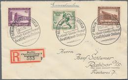 Thematik: Sport-Fußball / Sport-soccer, Football: 1936, German Reich. Rare Special Registration Labe - Fussball