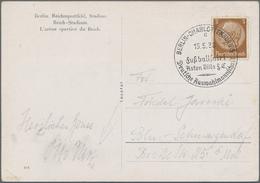 """Thematik: Sport-Fußball / Sport-soccer, Football: 1938, German Reich. Picture Postcard """"Reichssportf - Fussball"""