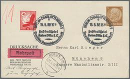 "Thematik: Sport-Fußball / Sport-soccer, Football: 1938, Dt. Reich. Minuten-SST ""Berlin-Charlottenbur - Fussball"