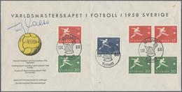 """Thematik: Sport-Fußball / Sport-soccer, Football: 1958, Sweden. Preprinted Cover """"Världsmästerskapet - Fussball"""