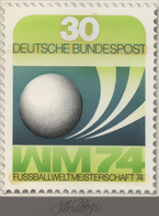 Thematik: Sport-Fußball / Sport-soccer, Football: 1974, Bund, Nicht Angenommener Künstlerentwurf (17 - Fussball