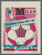 """Thematik: Sport-Fußball / Sport-soccer, Football: 1988. 650 L """"Italian Football Championship"""". AC Mi - Fussball"""