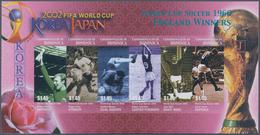 "Thematik: Sport-Fußball / Sport-soccer, Football: 2003, Dominica. IMPERFORATE Miniature Sheet Of 6 "" - Fussball"