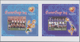 Thematik: Sport-Fußball / Sport-soccer, Football: 2004, ST. KITTS And GUYANA: European Football Cham - Fussball
