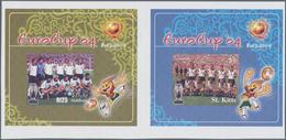 Thematik: Sport-Fußball / Sport-soccer, Football: 2004, MALDIVES And ST. KITTS: European Football Ch - Fussball