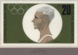 Thematik: Sport-Leichtathletik / Sports-athletics: 1968, Bund, Nicht Angenommener Künstlerentwurf (2 - Leichtathletik