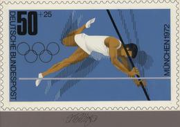 Thematik: Sport-Leichtathletik / Sports-athletics: 1972, Bund, Nicht Angenommener Künstlerentwurf (2 - Leichtathletik