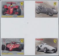 Thematik: Sport-Motorsport / Sport-motorsports: 2009, SIERRA LEONE And GUYANA: Ferrari Formula 1 Rac - Motorräder