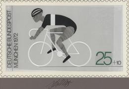 Thematik: Sport-Radsport / Sport-cycling: 1972, Bund, Nicht Angenommener Künstlerentwurf (26,5x16) V - Radsport