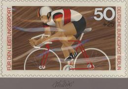 Thematik: Sport-Radsport / Sport-cycling: 1978, Berlin, Nicht Angenommener Künstlerentwurf (26,5x16, - Radsport