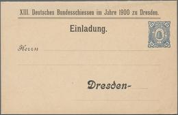 Thematik: Sport-Schießen / Sport-shooting: 1900, German Reich, Hansa Dresden. Folding Card 2pf Beehi - Waffenschiessen