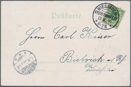 """Thematik: Sport-Turnen / Sport-gymnastics: 1899, Dt. Reich. Farb-AK """"XXIV. Mittelrhein Kreis-Turnfes - Gymnastik"""