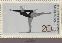 Thematik: Sport-Turnen / Sport-gymnastics: 1972, Bund, Nicht Angenommener Künstlerentwurf (26x16) Vo - Gymnastik