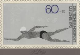 Thematik: Sport-Wassersport / Sport-water Sports: 1972, Bund, Nicht Angenommener Künstlerentwurf (26 - Sonstige