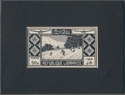 Thematik: Sport-Wintersport / Sport-winter Sports: 1936 Libanon, Issue Tourism, Artist Drawing (103x - Wintersport (Sonstige)