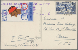 "Thematik: Sport-Wintersport / Sport-winter Sports: 1937, JEUX MONDIAUX DE SKI, France, 1,50 F Blue "" - Wintersport (Sonstige)"