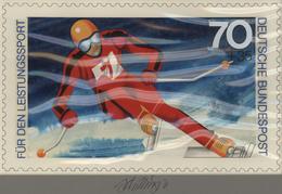Thematik: Sport-Wintersport / Sport-winter Sports: 1978, Bund, Nicht Angenommener Künstlerentwurf (2 - Wintersport (Sonstige)