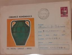 Cover Romania 1973, CANCELLATION STEFANESTI COUNTY ARGES, VAS CERAMIC  COUNTY ARGES - Cartas