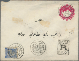 Ägypten: 1892/1939: Two Postal Stationery Items And One Cover, With 1) P/s Envelope 5m., Uprated 1p. - Ägypten
