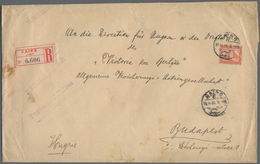Ägypten: 1908 Printed Envelope Used Registered From Cairo To Budapest, Franked By 2pi. Orange-brown - Ägypten