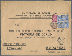 """Ägypten: 1910 Printed """"Papiers D'Affairs (Business Papers)"""" Envelope Used From Cairo To Budapest, Fr - Ägypten"""