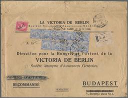 "Ägypten: 1911 Printed ""Papiers D'Affairs"" Envelope, ""Papiers D'Affairs"" Crossed Out And Notes ""Corre - Ägypten"