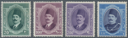 Ägypten: 1923, Postage Stamps King Fuad I., 4 Mint Never Hinged Values. - Ägypten