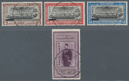 """Ägypten: 1926, 5 M To 50 P With Imprints """"PORT FOUAD"""", Four Values With Superb Perforation And Canel - Ägypten"""