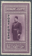 Ägypten: 1926, 50 Pia. Purple King Fouad With Vertical Black Opt. PORT FOUAD, Mint Never Hinged. - Ägypten