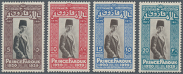 Ägypten: 1929, 9th Birthday Of Prince Farouk Complete Set In New Colours, Mint Never Hinged, Scarce - Ägypten