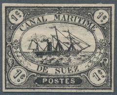 Ägypten - Suez-Kanal-Gesellschaft: 1868, 1 C Black, White Luxury Piece Type I, Trace Of Hinge, Certi - Ägypten