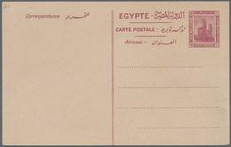 Ägypten - Ganzsachen: 1931 Postal Stationery Card 'Colossuses Of Memnon' 10m. With Arabic Inscriptio - Ägypten