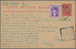 Ägypten - Ganzsachen: 1940 Five Postal Stationery Cards King Fouad 13m. Each Uprated King Farouk 10m - Ägypten