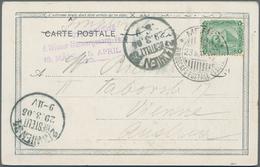 Ägypten - Schiffspost: 1905, ITALIAN MARITIME MAIL: Egypt, 2 M Green, Tied By Cds MEMFI / PIROSCAFO - Ägypten