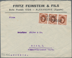"Ägypten - Schiffspost: 1925, ""VAPORE D'ALESSANDRIA"", Double-line Handstamp, Applied During Transit O - Ägypten"