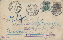 Ägypten - Besonderheiten: 1906, Germany 3 Pfg. And 5 Pfg. On Cover From Frankfurt 23.12.06 (flap Mis - Ägypten