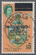 "Anguilla: 1967, Independant Anguilla Overprints, $5 With Centric Strike Of C.d.s. ""ANGUILLA 25 NO 67 - Anguilla (1968-...)"