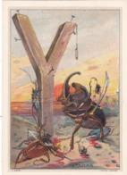 """CHROMOS.  PUBLICITE PRODUITS DU Dr DELABARRE  IMAGE ALPHABET ARTISTIQUE DE M. MARINIER LA LETTRE """" Y"""" COMME YATAGAN - Kaufmanns- Und Zigarettenbilder"""