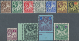 Barbados: 1912, KGV Definitives Complete Set With Wmk. Mult. Crown CA, Mint Lightly Hinged, SG. £ 22 - Barbados (1966-...)